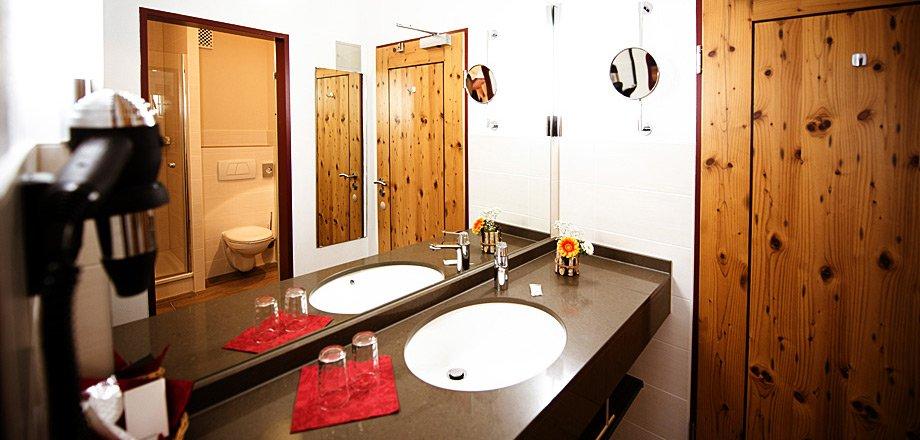 Badezimmer der Wohlfühlzimmer
