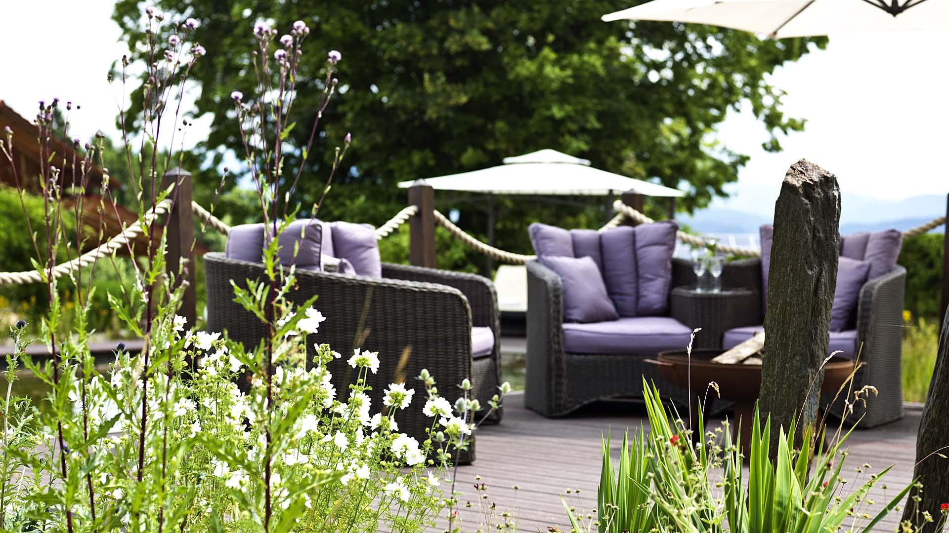 Relaxgarten unseres Hotel