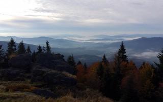 Blick vom Mühlriegel über den Bayerischen Wald
