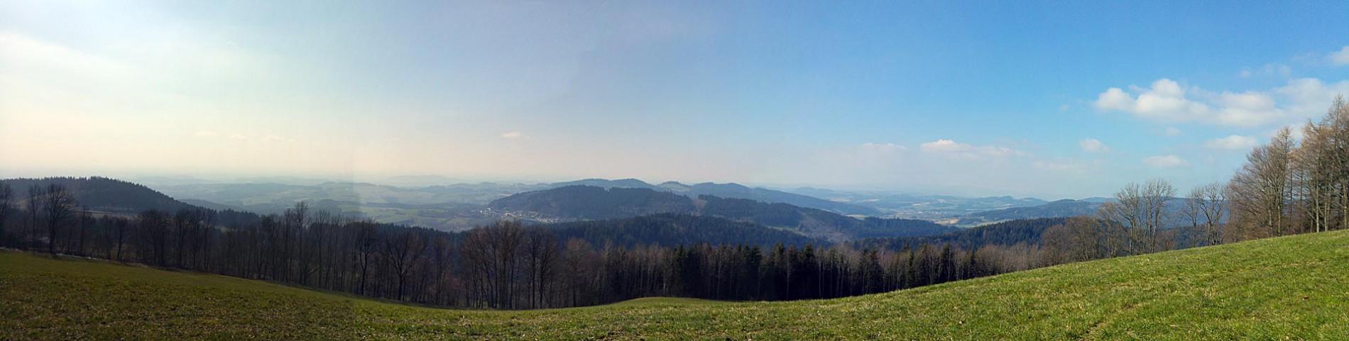 Panorama-Blick der Wanderung im Bayerischen Wald