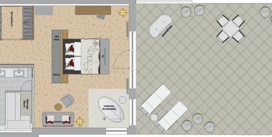 Neue Relax Suite Wellnest unseres Wellnesshotel im bAyerischen Wald