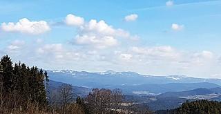 Blick vom Aussenpool unseres 4 Sterne Wellnesshotel - Bayerischer Wald