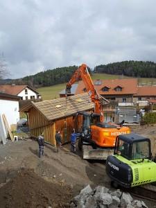 Die alte Aussensauna unseres 4 Sterne Wellnesshotel im Bayerischen Wald