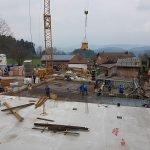 Die Bauarbeiten gehen zügig weiter - unseres 4 Sterne Wellnesshotel im Bayerischen Wald