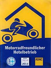 Motorradhotel Zum Bräu vom ADAC empfohlen