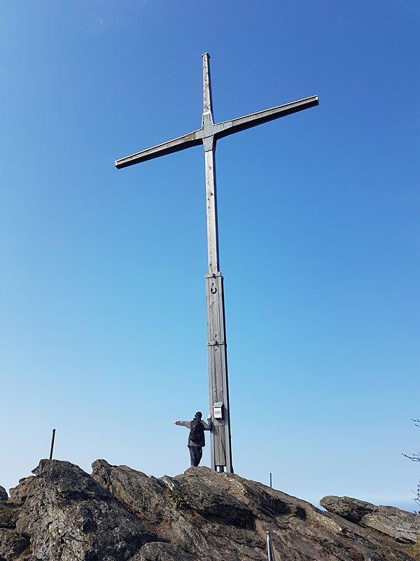 Das Gipfelkreuz des Keitersberg - Bayerischer Wald