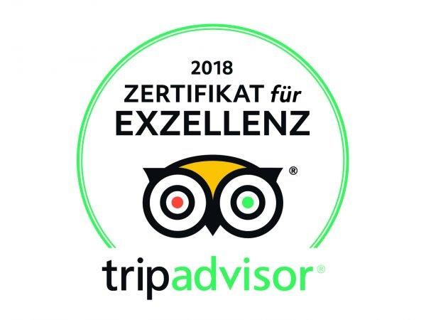 Auszeichnung unseres 4 Sterne Wellnesshotel Bayerischer Wald bei Tripadvisor