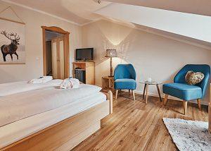Doppelzimmer Bergstüberl unseres Wellnesshotel im Bayerischen Wald