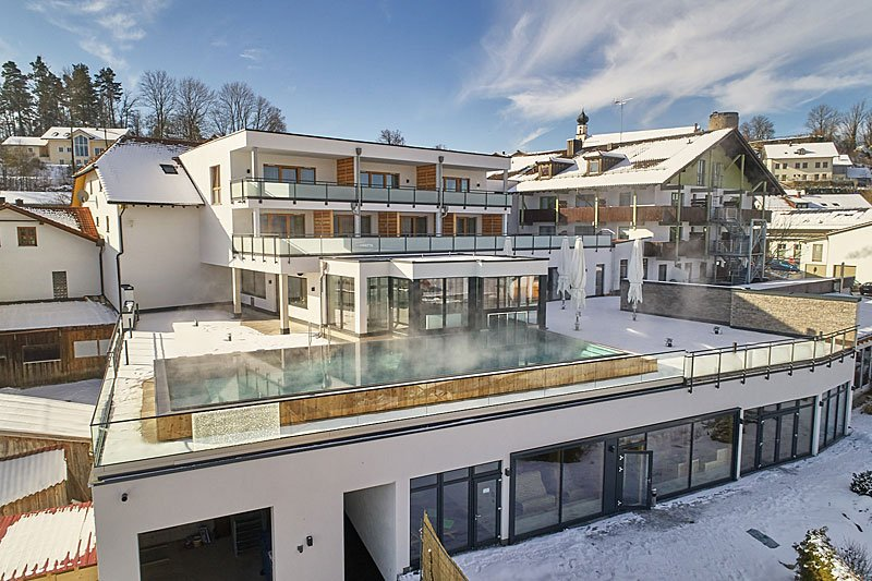 Hotelansicht unseres Wellnesshotel im Bayerischen Wald