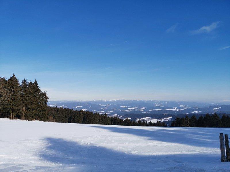 Traumwetter zum Schneeschuhwandern im Bayerischen Wald