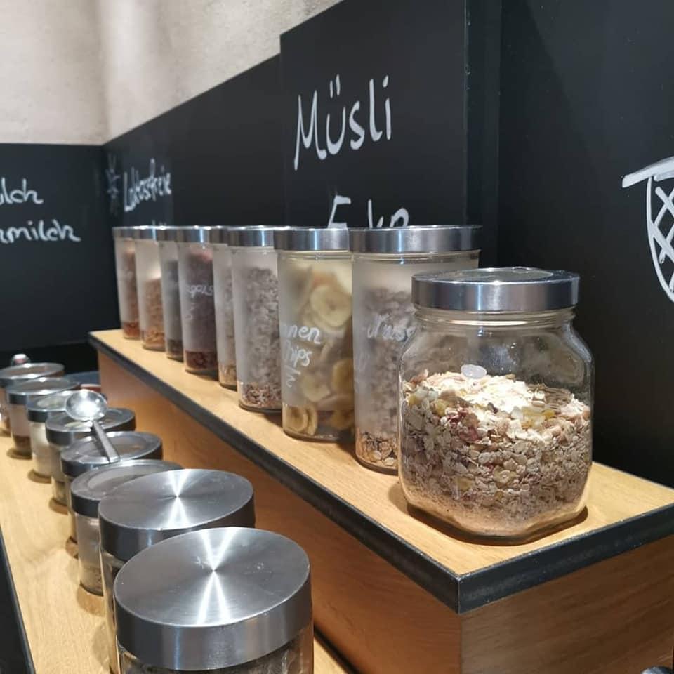 Muesslistation unsere Frühstückbüffet - Wellnesshotel Bayern