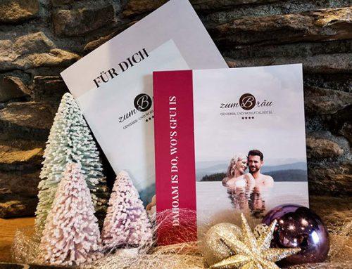 Geschenk-Gutschein zu Weihnachten – Wellnesshotel Zum Bräu