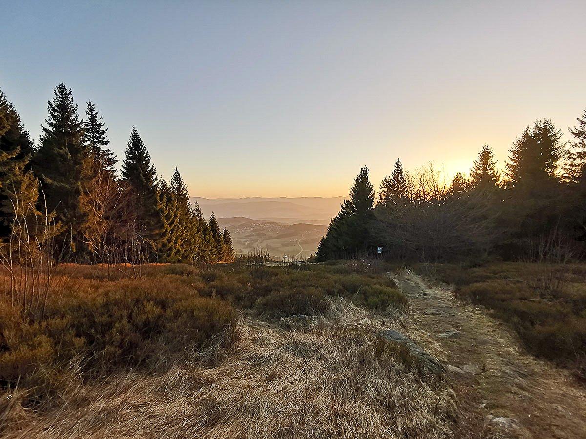 Sonnenaufgang vom Pröllergipfel - Hausberg unseres Wellnesshotel im Bayerischen Wald