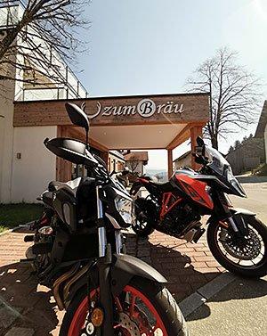 Motorradurlaub im Bayerischen Wald - Motorradurlaub beim Wellnesshotel Zum Bräu
